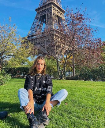 She spends a lot of time in London, but is also a bit of a globe trotter. A glance on her Instagram feed reveals she has visited Paris, Portugal, Mikonos, Ibiza, Italy, and France in the past year alone. (Photo: Instagram)