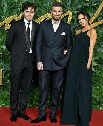 Though they've been only dating four a couple months, Cross has already met both Victoria and David. They hanged out at a British Fashion Awards afterparty. (Photo: Instagram)