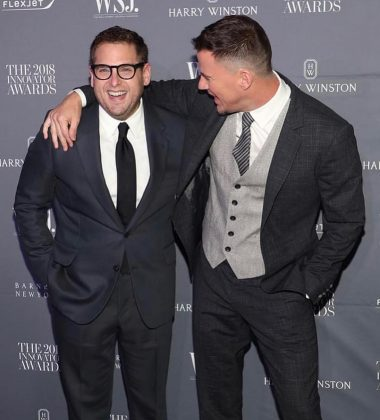 "Because of his bromance Channing Tatum. After filming ""21 Jump Street"", these two had the luck of becoming best friends in real life. ""For this kind of movie,"" Hill said at the premiere, ""the friendship translates into what the movie's about, which is kind of rad."" (Photo: Instagram)"