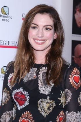 Hathaway said she stop drinking since last October. (Photo: WENN)