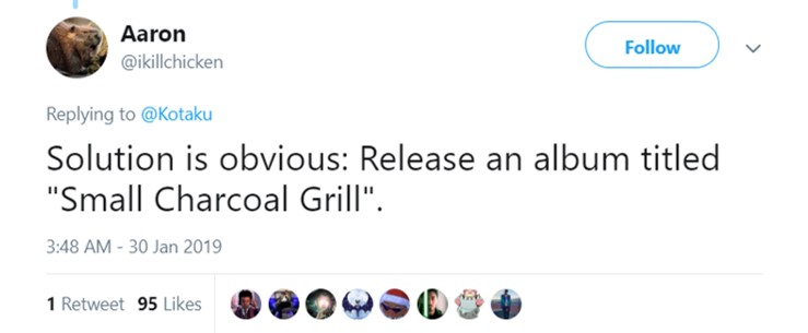 "From ""Sweetener"" to ""Small Charcoal Grill."" (Photo: Twitter)"