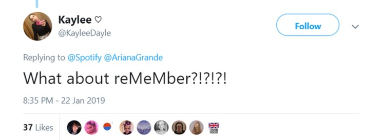 Remember was pulled out of the album. Ari said the world wasn't ready to hear it yet. (Photo: Twitter)