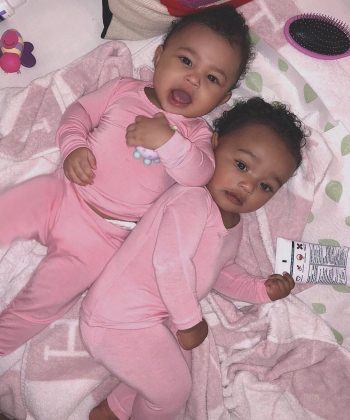 Baby Chi with her BFF, Stormi Webster, having an adorable pink PJ's party. (Photo: Instagram)