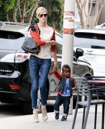 Charlize Theron had two adopted children, Jackson and August. (Photo: WENN)