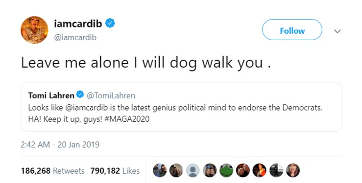 A Political Debate Between Cardi B And Tomi Lahren Is The Twitter
