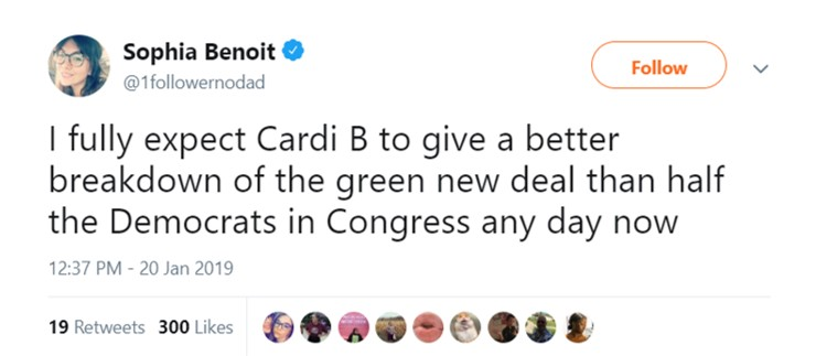 Some folks are living for Cardi's strong political takes. (Photo. Twitter)