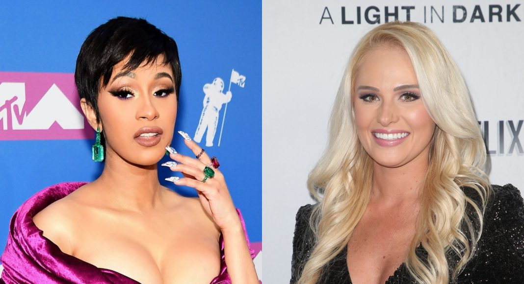 Click through our photo gallery see all the reactions to the unforeseen yet highly appreciated political debate between Cardi B and Tomi Lahren. (Photos: WENN)