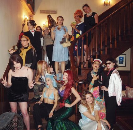 "Taylor Swift hosted a New Years Eve party with the theme ""Childhood heroes,"" with guests including Gigi Hadid and Blake Lively. (Photo: Instagram)"