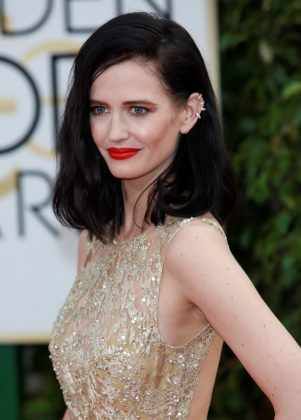 "It's insane to think of Eva Green as anything but a sultry, sexy brunette… and you may never need to! The ""Penny Dreadful"" star has allegedly dyed her hair since age 14, and doesn't think she'll ever return to blonde unless a film role demands it. (Photo: WENN)"