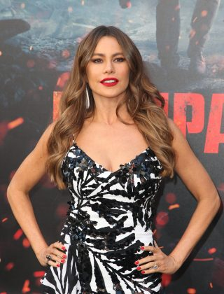 """Gloria Pritchett may have brown hair in """"Modern Family,"""" but Sofia Vergara is a natural dirty blonde. Going darker was her secret to success in Hollywood, as casting directors would turn her down as a blond for not looking """"Latina enough."""" (Photo: WENN)"""