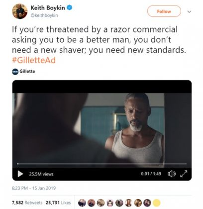 CNN commentator Keith Boykin had a simple message for the people who dislike the Gillette ad. (Photo: Twitter)