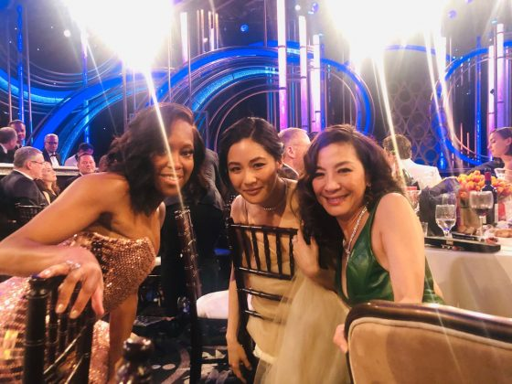 Director Barry Jenkins shared a picture of Regina King, Constance Wu, and Michelle Yeoh that literally radiated joy. (Photo: Instagram)
