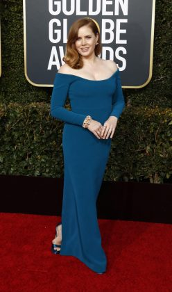 One word: lackluster. This gown's hue is the only thing bold about it. And when you're a double-nominee like Amy Adams, you deserve a more major moment. (Photo: WENN)
