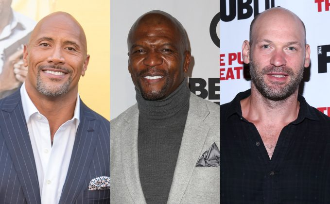 From Dwayne Johnson to Bruce Willis to the newly-hairless John Travolta, here are 20 hot bald celebrities who prove hair is seriously overrated. (Photos: WENN)