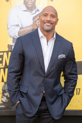 Dwayne Johnson is the most electrifying man in Hollywood and the epitome of manhood—even without any hair. (Photo: WENN)
