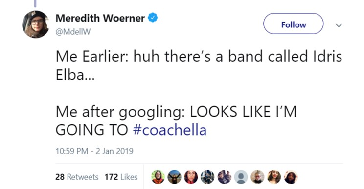Guess I'm going to Coachella this year. (Photo: Twitter)