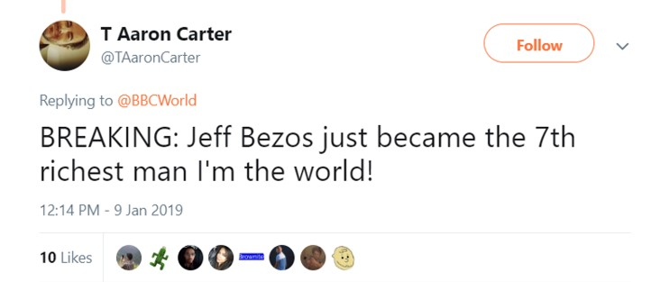What I heard when they told me Jeff Bezos was getting divorced. (Photo: Twitter)
