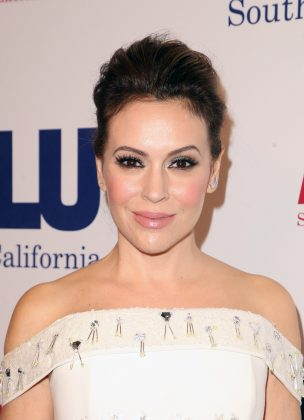 "Also in 2002, Justin dated ""Charmed"" actress Alyssa Milano. Despite her romance with the singer, Alysa said in a 2015 interview that he and Britney were ""super cute and super in love"" and that they ""just seemed like the perfect match."" (Photo: WENN)"