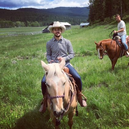 Like the good southern boy that he is, David's Instagram page is peppered with shots of him astride various steeds. This cowboy clearly loves to ride horses! (Photo: Instagram)