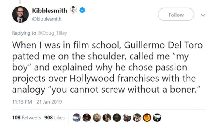 One more reason to love Guillermo del Toro. (Photo: Twitter)