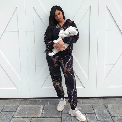 With 13,066,998 likes, just about 300,000 short of dethroning second place, here's Queen of Instagram, Kylie Jenner, yet again, with baby Stormi. (Photo: Instagram)