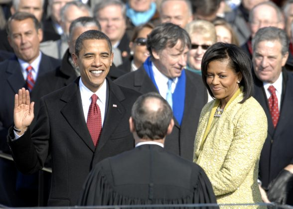 Barack Obama's first inauguration broke records 10 years ago in January 20. It feels like only yesterday Obama put his hand on the Bible to take the Oath of Office before what we're convinced was the largest inaugural crowd D.C. has ever seen. (Photo: WENN)