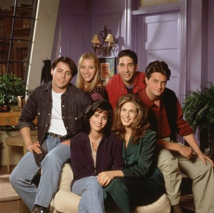 "Everyone's favorite sitcom ""Friends"" turns 25 in September, making the show older than nearly every single member of Fifth Harmony. Even a quarter-century later, the heavily syndicated show is still here for us. (Photo: WENN)"