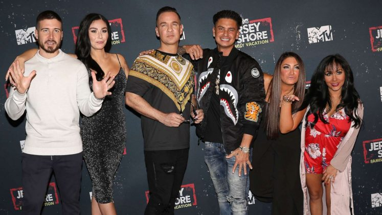 "Pauly D, Ronnie, and the Situation have been G.T.L-ing for nearly a decade now. MTV's breakout reality show ""Jersey Shore"" celebrates its 10th birthday in December. It became a pop culture phenomenon its controversial portrayal of Italian-Americans. (Photo: WENN)"