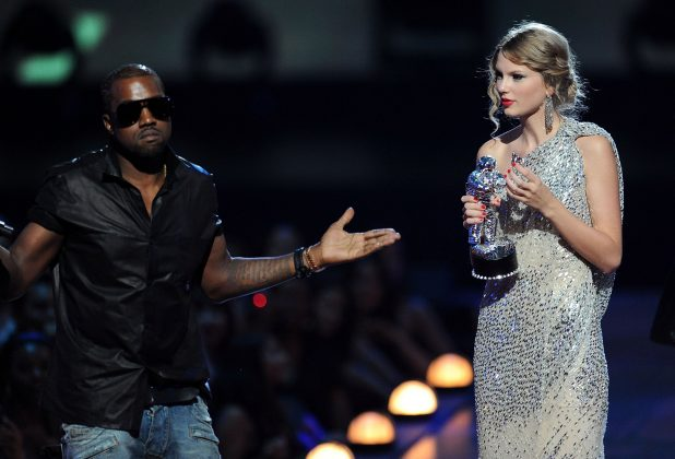 Kanye West and Taylor Swift's legendary MTV Video Music Awards moment will celebrate its 10th anniversary on September 13. Their on-off feud has continued ever since most recently flaring up after a 2016 incident with Ye's wife, Kim Kardashian. (Photo: WENN)