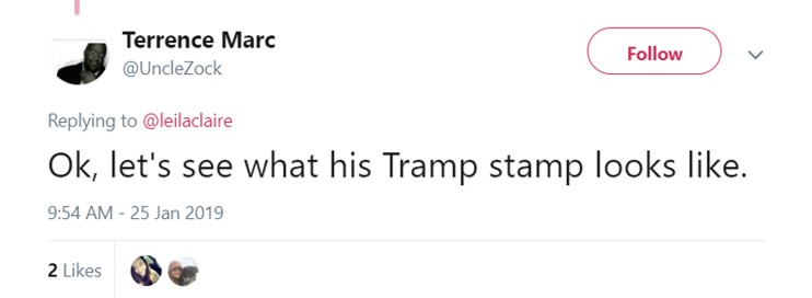 He has a Trump stamp. (Photo: Twitter)