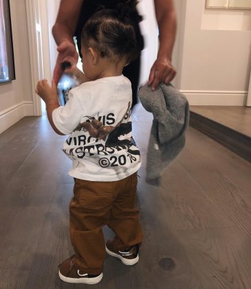 Being the ultimate daddy's girl rocking Travis Scott's Astroworld tour shirt. (Photo: Instagram)