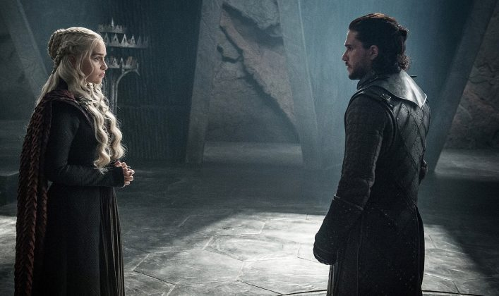 "Fans will finally find out the ultimate fate of Jon Snow and Daenerys Targaryen. The eighth and final season of HBO's ""Game of Thrones"" will premiere in April 2019. (Photo: Release)"