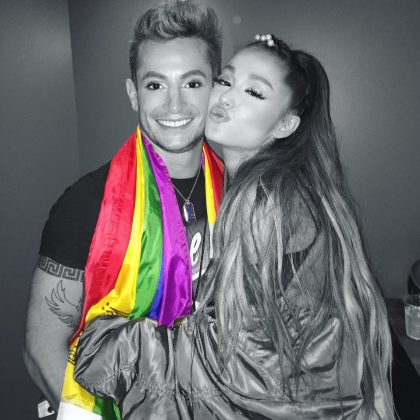 "He was nervous about coming out to Ariana. ""I remember being so nervous to tell my little sister,"" Frankie said. ""I was like, 'I have something to tell you… I'm gay.' And she was like, 'Cool, do you have a boyfriend?' And I was like, 'Yeah,' and she was like, 'When do I get to meet him?' I was like, 'Really? It's that simple?' So it went really well."" (Photo: Instagram)"