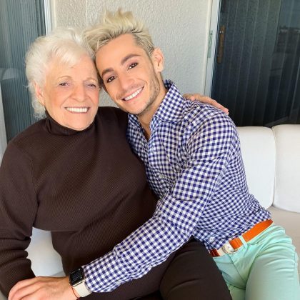 "Unlike Ariana, Frankie and his nonna don't have matching tattoos. But that doesn't mean he doesn't love her just as much. ""Happy birthday to my Nonna, the light of my life,"" he wrote on her 90th birthday. (Photo: Instagram)"