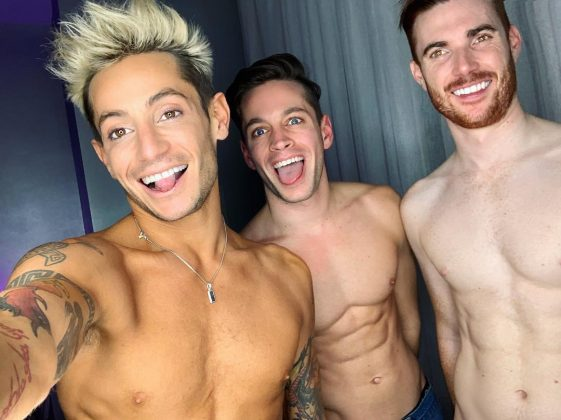 The more the merrier for Frankie Grande. He revealed he's been dating a married couple for the last few months. Frankie has shared sneak peeks of his relationship with Mike Pophis and Daniel Sinasohn all over Instagram. (Photo: Instagram)