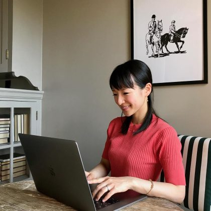 At 19, Marie Kondo launched her home-organizing consulting business. Now, 15 years later, it has a three-month-long waiting list! (Photo: Instagram)
