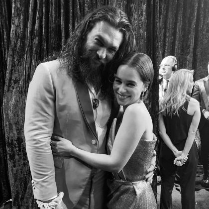 The 'Game of Thrones' love is still going strong between Jason Momoa and Emilia Clarke. (Photo: Instagram)