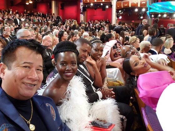 Lupita was sure to document all of 'Black Panther' incredible record-breaking achievements. (Photo: Instagram)