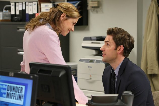 Jim and Pam are our favorite couple because they both got out of the friendzone. Does it get more epic than that?! (Photo: Release)