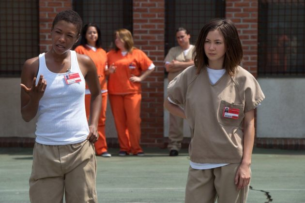 Brook Soso and Poussey Washington were an unlikely pairing, but thy cared deeply about each other, right until (spoiler!) Poussey's dying breath. (Photo: Release)