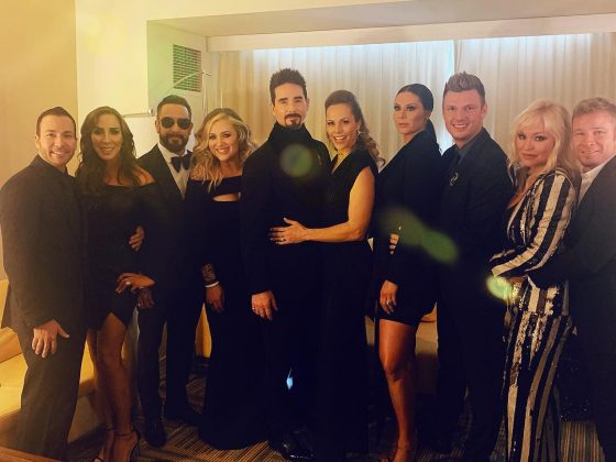 "The Backstreets Boys ""surreal"" comeback to the Grammys turned into a giant group date with their beautiful wives. (Photo: Instagram)"