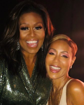 "Jada Pinkett Smith called Michelle Obama her ""forever first lady"" in this selfie they took at the Grammys 2019. (Photo: Instagram)"