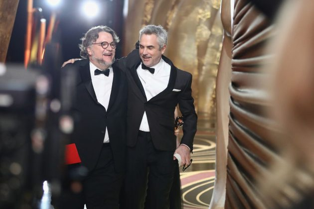 Del Toro and longtime friend Cuaron shared a long hug before he accepted his award for 'Roma', with the two walking off the stage still locked in an embrace. (Photo: Release)