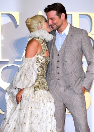 How are we supposed to not ship Gaga and Cooper's fictional romance when they're PDA-ing like this? (Photo: WENN)