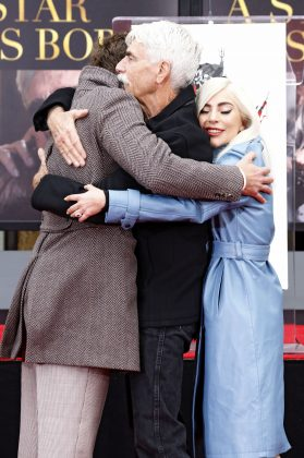 The only thing better than the Bradley + Gaga fantasy is the Bradley + Elliot + Gaga dream. (Photo: WENN)