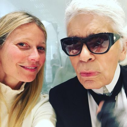 """Dearest Karl, there will never be another like you,"" shared Gwyneth Paltrow on her Instagram page. ""Thank you for your incredible contribution to fashion and wit."" (Photo: Instagram)"
