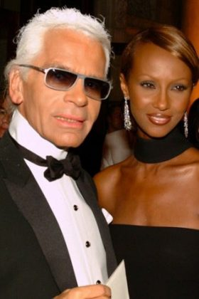 "Iman Abdulmajid took to Twitter to mourn the death of the designer. ""The end of an era! RIP Karl Lagerfeld."" (Photo: Twitter)"