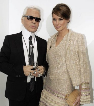 "First Lady Melania Trump wrote on Twitter: ""Today the world lost a creative genius. We will miss you Karl!"" (Photo: Twitter)"