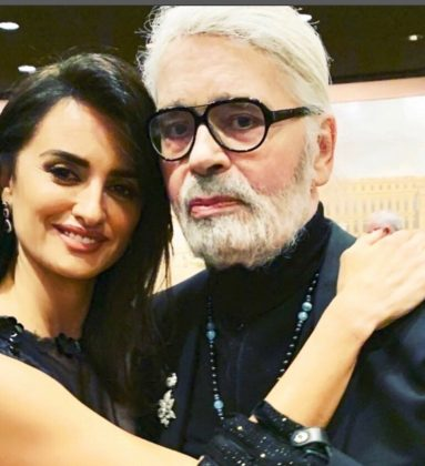"""There will always be a place in my hear for your, my dear Karl,"" wrote Penelope Cruz. I will never forget your kindness, your generosity, and how much we have laughed together. I will truly treasure those moments forever."" (Photo: Instagram)"