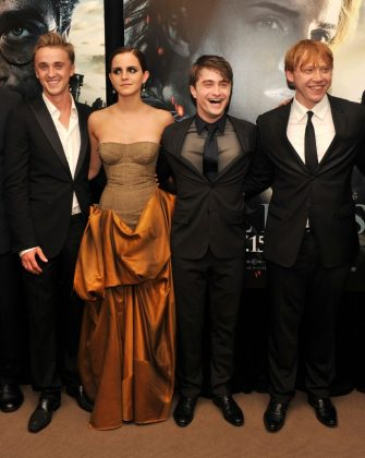 "Emma Watson and Tom Felton met while filming the ""Harry Potter"" movies. (Photo: WENN)"